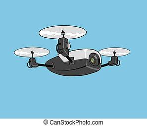 無人機, 空気