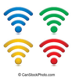 無線, シンボル, セット, ネットワーク