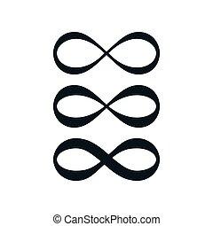 無限点, シンボル, 単純である, セット