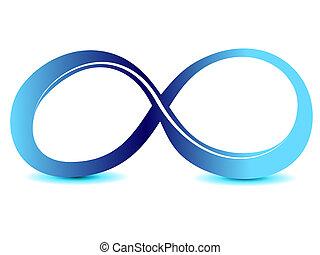 無限点, シンボル, 無制限である, 印, ベクトル, アイコン