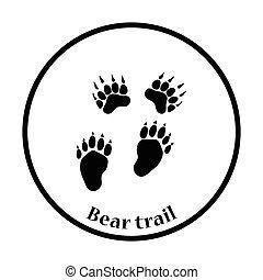 熊, アイコン, 道