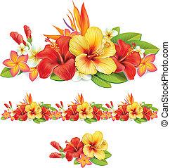 熱帯の花, 花輪