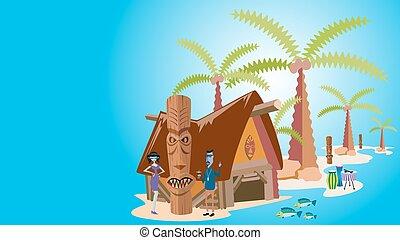 熱帯 島, ヤシの木