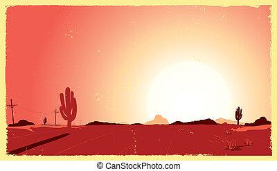 熱, 西部の砂漠