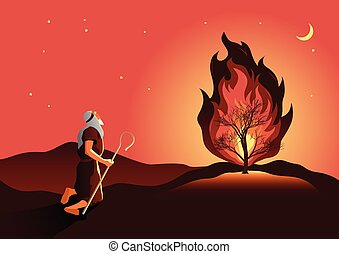 燃えているブッシュ, moses