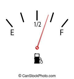 燃料, シンボル, ベクトル, ゲージ, イラスト