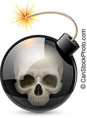 爆弾, 頭骨