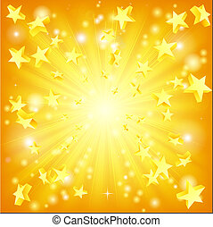 爆発する, 星, 背景