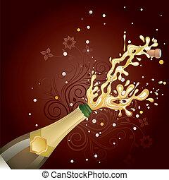 爆発, シャンペン