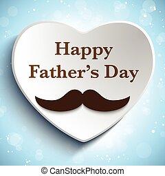 父, 愛, 日, 口ひげ, 幸せ