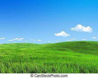 牧草地, 自然, -, コレクション, 緑, テンプレート
