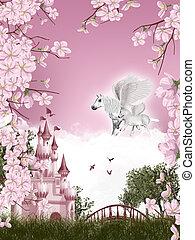 物語, 妖精, pegasus