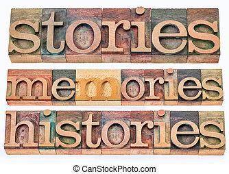 物語, 記憶, histories