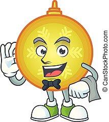 特徴, ボール, クリスマス, look., 黄色, ウエーター, 定型