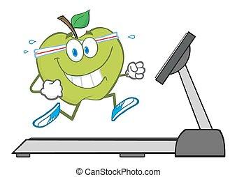 特徴, 動くこと, 緑のリンゴ