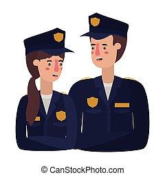 特徴, 恋人, 警察, avatar