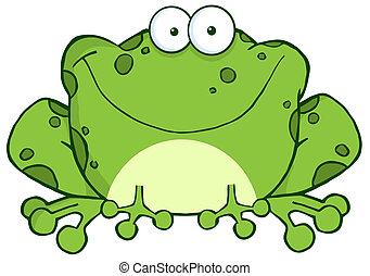 特徴, 漫画, カエル, 幸せ