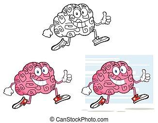 特徴, 漫画, 脳, ジョッギング