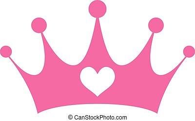 特許権使用料, girly, ピンク, 王女, 王冠
