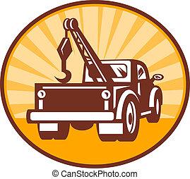 牽引 トラック, レッカー車, ∥あるいは∥, 後部光景