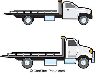 牽引, トラック