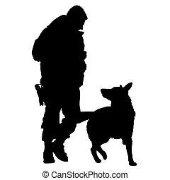 犬, 警察, シルエット, 5