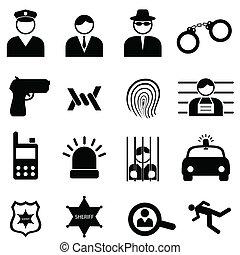 犯罪, 警察, アイコン