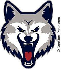 狼, マスコット, 頭