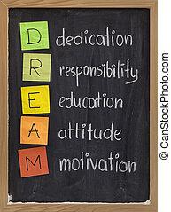 献呈, 態度, 教育, 責任, 動機づけ