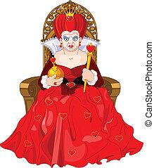 王位, 怒る, 女王