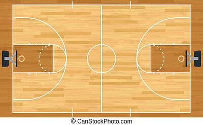現実的, バスケットボール, ベクトル, 法廷