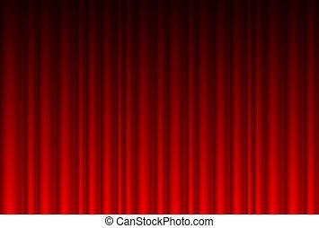 現実的, 赤いカーテン