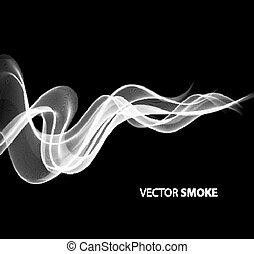 現実的, 黒煙, 背景, ベクトル