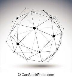 球形, ∥ディ∥, 色, 抽象的, イラスト, 単一, ベクトル, 内側を覆われた, 3d