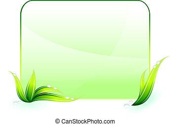 環境の 保存, 緑の背景