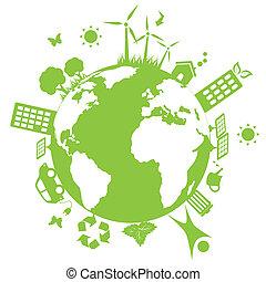 環境, 緑地球