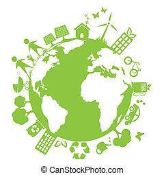 環境, 緑, きれいにしなさい