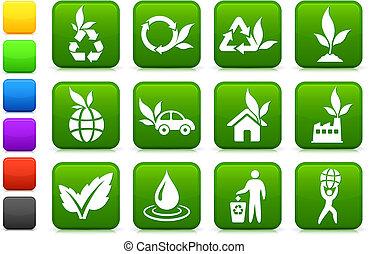 環境, 緑, コレクション, アイコン
