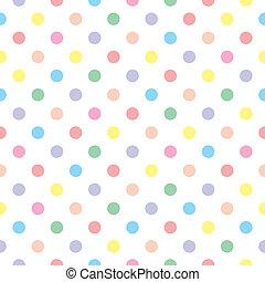 甘い, パターン, 点, seamless, ベクトル