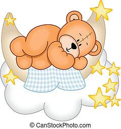 甘い, 夢, 熊, テディ