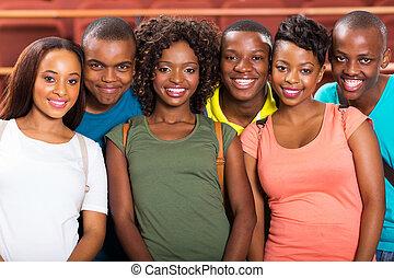 生徒, 大学, african american, 若い