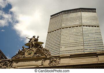 生活, 中央である, 会った, 駅, 壮大, ニューヨークシティ, 建物
