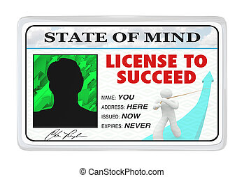 生活, 免許証, 許可, 成功した, -, 成功しなさい
