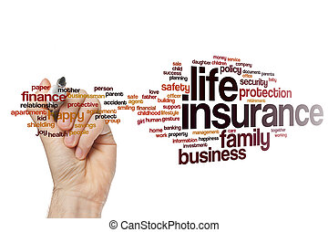 生活, 単語, 保険, 雲