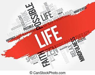 生活, 単語, 雲