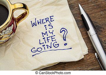 生活, 私, どこ(で・に)か, 行く