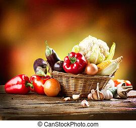 生活, 芸術, 野菜, 健康, 有機体である, デザイン, まだ