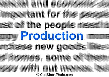 生産, 概念