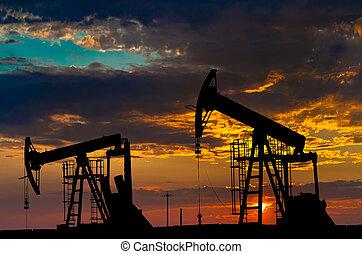 産業, オイル, equipment., pumps.