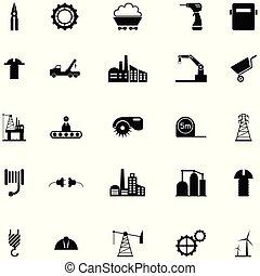 産業, セット, アイコン